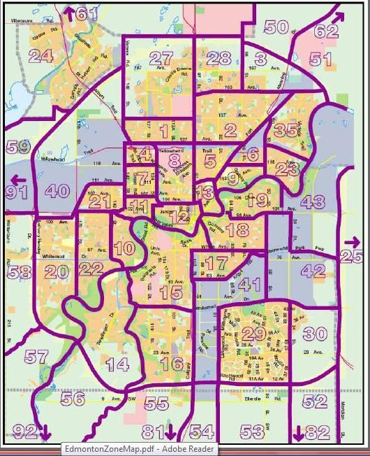 Edmonton real estate zones