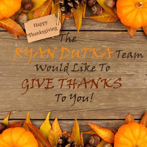 Ryan Dutka Thanksgiving promo 2016